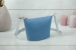 """Сумка жіноча. Шкіряна сумочка """"Елліс"""", Шкіра Флотар, колір Синий, фото 2"""