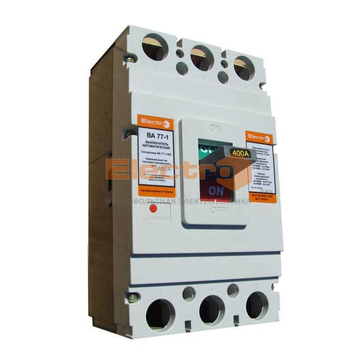 Автоматический выключатель ВА 77-1-400 3P 380В