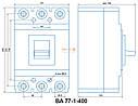 Автоматический выключатель ВА 77-1-400 3P 380В, фото 3