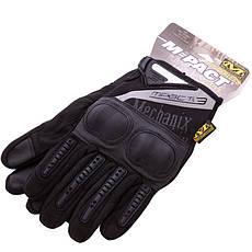 Тактичні військові чоловічі рукавички з посиленим протектором MECHANIX MPACT BC-4923 M Чорний, фото 3