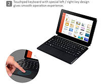 Чехол-клавиатура для планшета Chuwi Vi10 с русско-украинскими буквами, фото 1