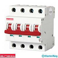 Модульный автоматический выключатель e.industrial.mcb.100.3N.D32, 3р+N, 32А, D, 10кА, e-next