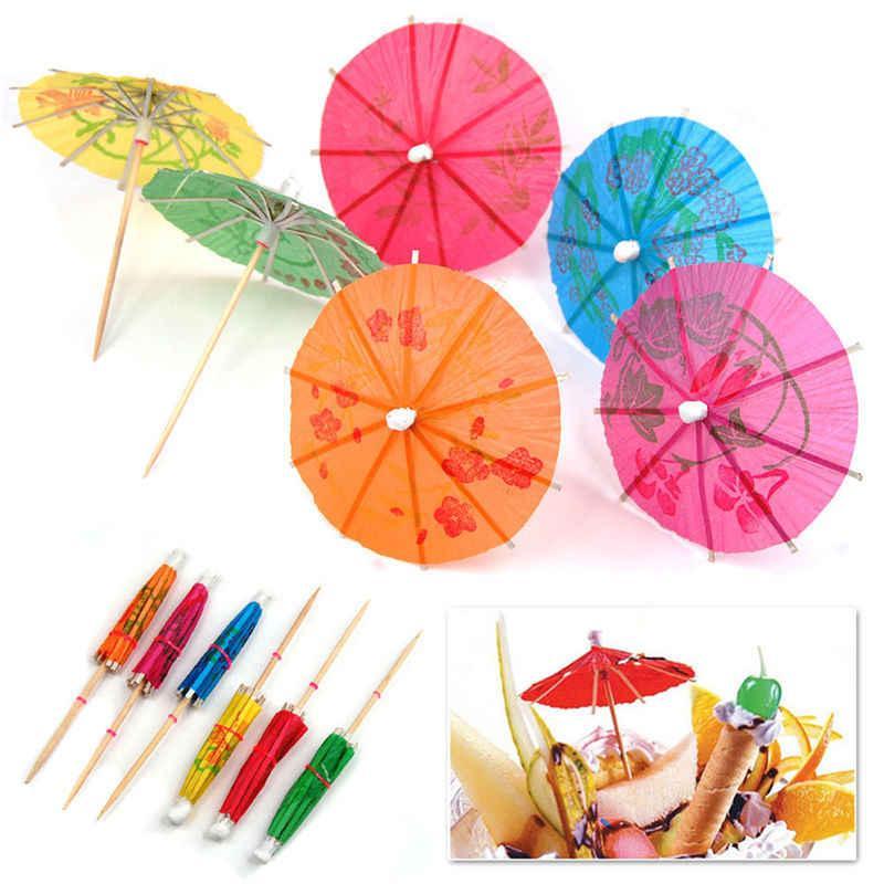 Набір парасольок коктейльних маленьких 10 штук. Парасолька коктейльний маленький 1933
