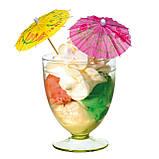 Набір парасольок коктейльних маленьких 10 штук. Парасолька коктейльний маленький 1933, фото 2