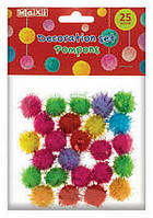 Набір для декорування: Бомбони однокольорові мохнаті, 20 мм, MAXI