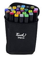 Набір скетч-маркерів двосторонніх 24 шт. для малювання, Touch
