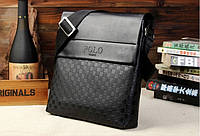 Мужская кожаная сумка Polo в стиле casual. Модель 0445, фото 5