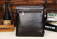 Мужская кожаная сумка Polo в стиле casual. Модель 0445, фото 4