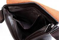 Мужская кожаная сумка Polo в стиле casual. Модель 0445, фото 8