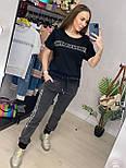 Костюм женский летний: футболка с камнями и кружевом и джинсы (2 цвета), фото 7