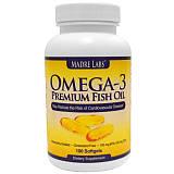 В наличии Омега-3 Premium Fish Oil Madre Labs Omega 3 100 Капсул по 1 г.