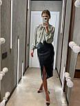 Стильная юбка женская из эко-кожи, фото 4
