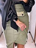 Стильная юбка женская из эко-кожи, фото 3