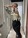 Стильная юбка женская из эко-кожи, фото 5