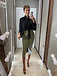 Стильная юбка женская из эко-кожи, фото 2