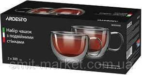 Чашки с двойной стенкой 300мл. 2 шт. набор. Ardesto. 2630GH, фото 2