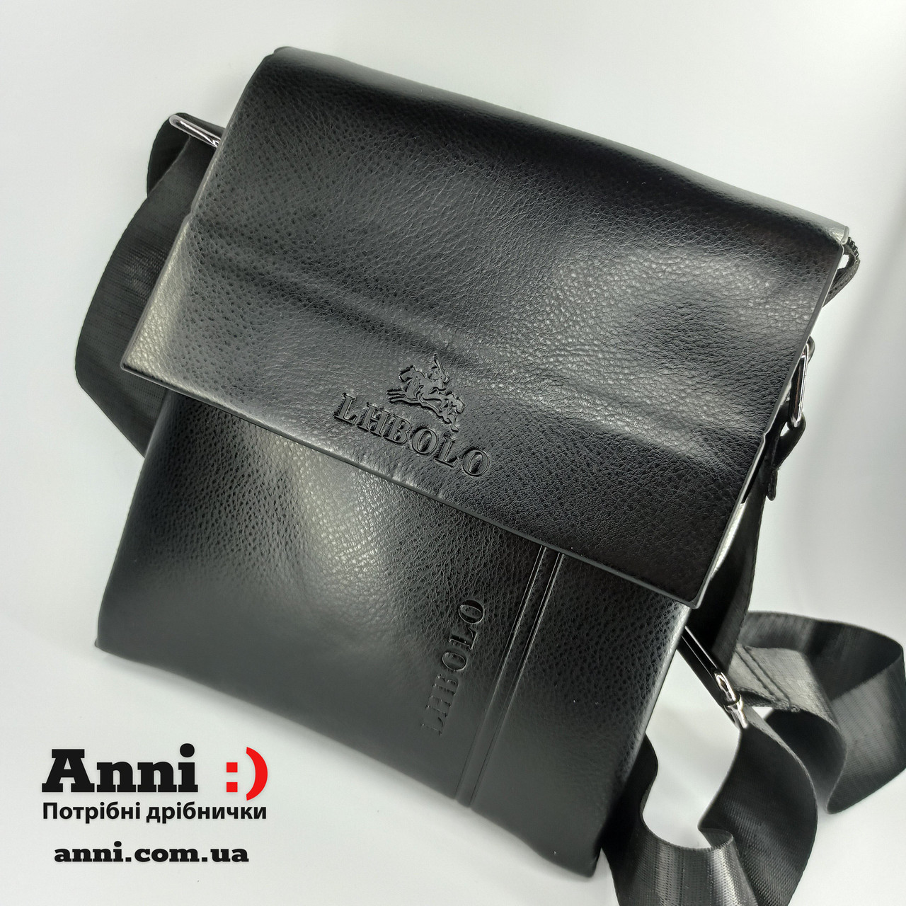 Чоловіча сумка планшет через плече з еко шкіри 23*20