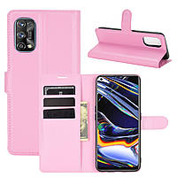 Чехол Fiji Luxury для Realme 7 Pro книжка светло-розовый