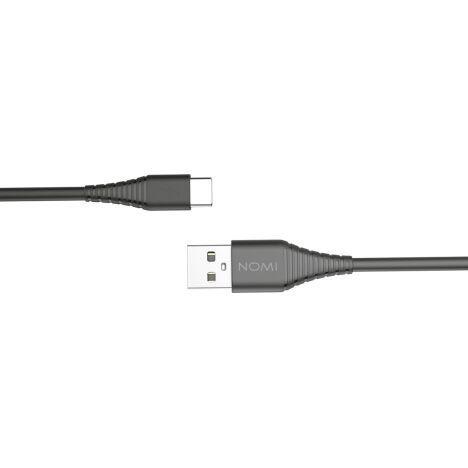 Кабель USB Type-C Nomi DCBQ 10c 2.4 А, 1м Чорний