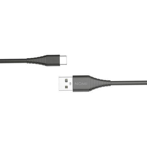 Кабель USB Type-C Nomi DCBQ 10c 2.4 А, 1м Чорний, фото 2