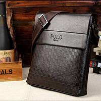 Мужская кожаная сумка Polo в стиле casual. Модель 0445, фото 2