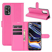 Чехол Fiji Luxury для Realme 7 Pro книжка розовый