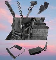 Тактический анти-потеряшка эластичный шнур тренчик веревка военный ремень с карабином