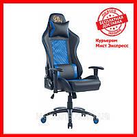 Кресло для работы дома Barsky SDM-02 Sportdrive Massage, черный / синий