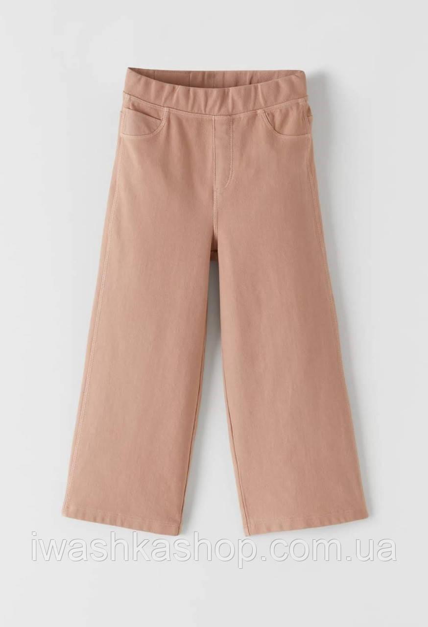 Розовые штаны-кюлоты с карманами на девочек 9 лет, р. 134, ZARA