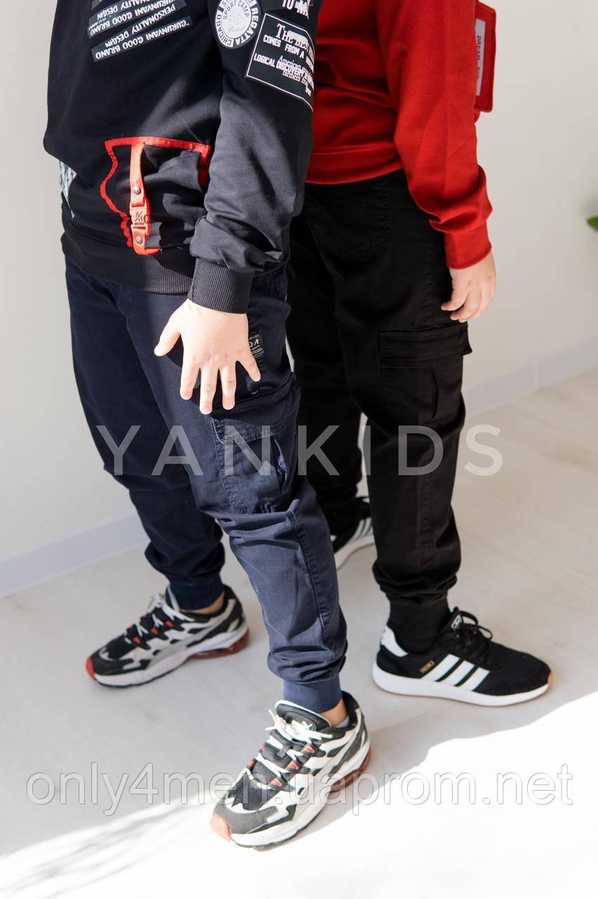 Джоггеры котонновые  для мальчиков  на возраст 11-15 лет