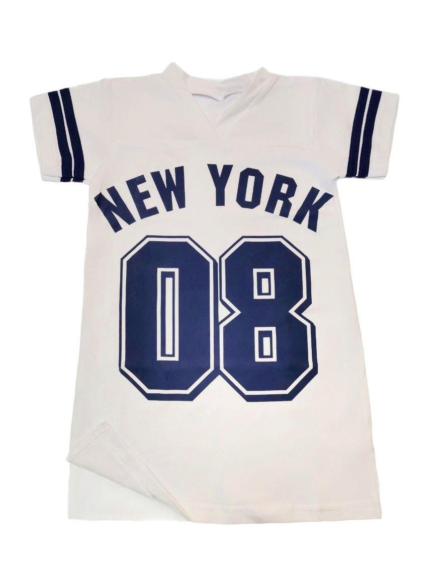 Туника белая для девочки New York кулир