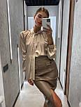 Стильная юбка женская из эко-кожи, фото 7