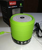 Портативная Bluetooth колонка WSTER WS-631 Green, фото 3