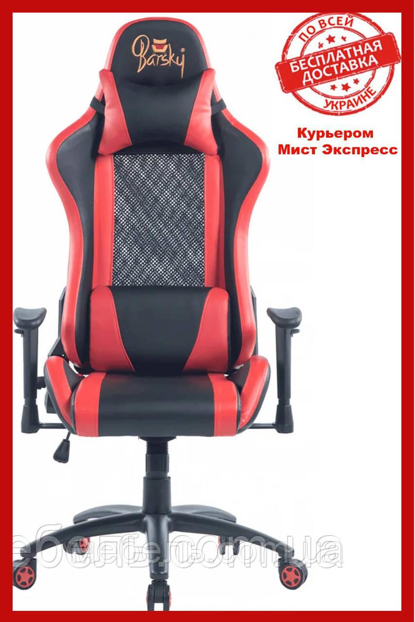 Кресло для врача Barsky SDM-03 Sportdrive Massage, черный / красный