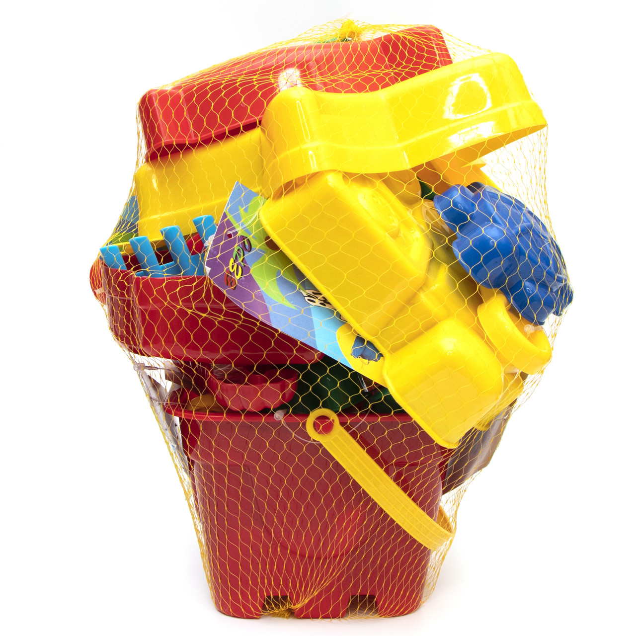 Великий пісочний набір - Jiahe Plastic, 22 шт, сітка, різнокольоровий, пластик (JH001)