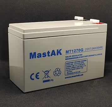 Акумулятор Mastak MT1270G ( 12v 7Ah )