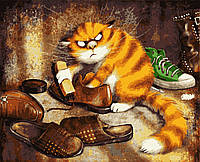 """PN5345 Картины по номерам """"Недовольный кот"""" 40*50 см Artissimo"""