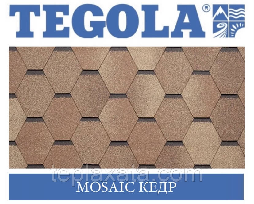 Черепиця TEGOLA (Super) Mosaic Кедр