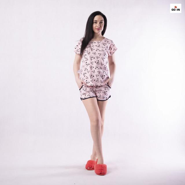 Річна жіноча піжама футболка з шортами бавовняна р. 42-54