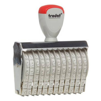 Нумератор ленточный 7мм, 12-ти разрядный, Trodat 15712, фото 2