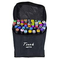 Набір скетч-маркерів двосторонніх 48 шт. для малювання, Touch
