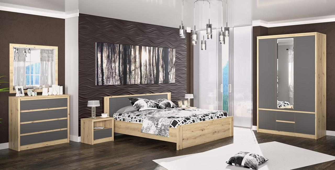 Спальня Доминика, артизан/серый, модульная система