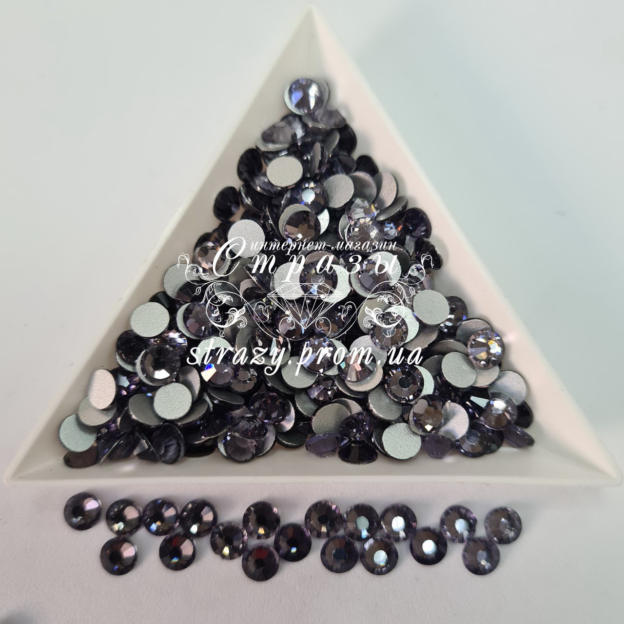 "Стразы ss30 Tanzanite, 50шт, (6.5мм) ""Crystal Premium"""