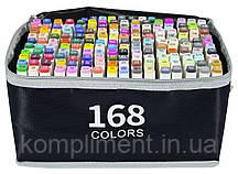 Набір скетч-маркерів двосторонніх 168 шт. для малювання, Touch