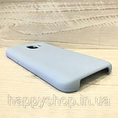 Чехол-накладка Soft touch для Samsung Galaxy J2 2018 (SM-J250) Голубой, фото 2