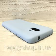 Чехол-накладка Soft touch для Samsung Galaxy J2 2018 (SM-J250) Голубой, фото 3