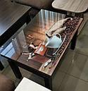 Стіл трансформер Флай венге магія зі склом 16_182, журнальний обідній, фото 7