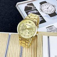 Годинники чоловічі Emporio Armani QQ Gold/ Годинники чоловічі Армані/Чоловічий наручний годинник Армані
