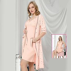 Одежда для сна  S-M-L-XL женская хлопковая пеньюар с халатом Seyko