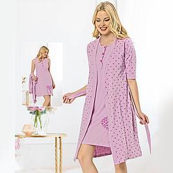 Одежда для сна женская S-M-L-XL хлопковая пеньюар с халатом Seyko